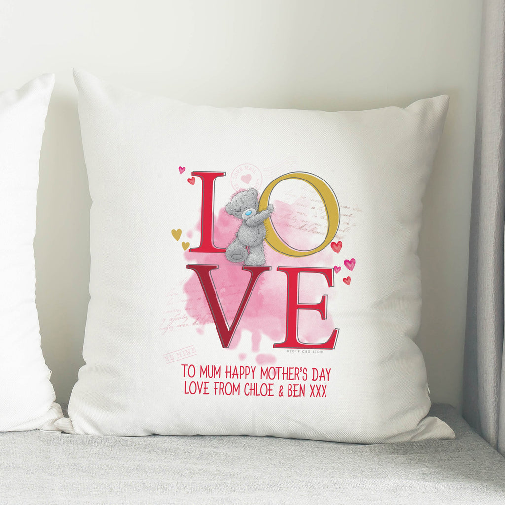 Personalised Me To You LOVE Filled Cushion - Shop Personalised Gifts
