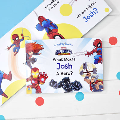 What Makes Me a Hero Marvel Board Book - Personalised Books-Personalised Gifts-Baby Gifts-Kids Books