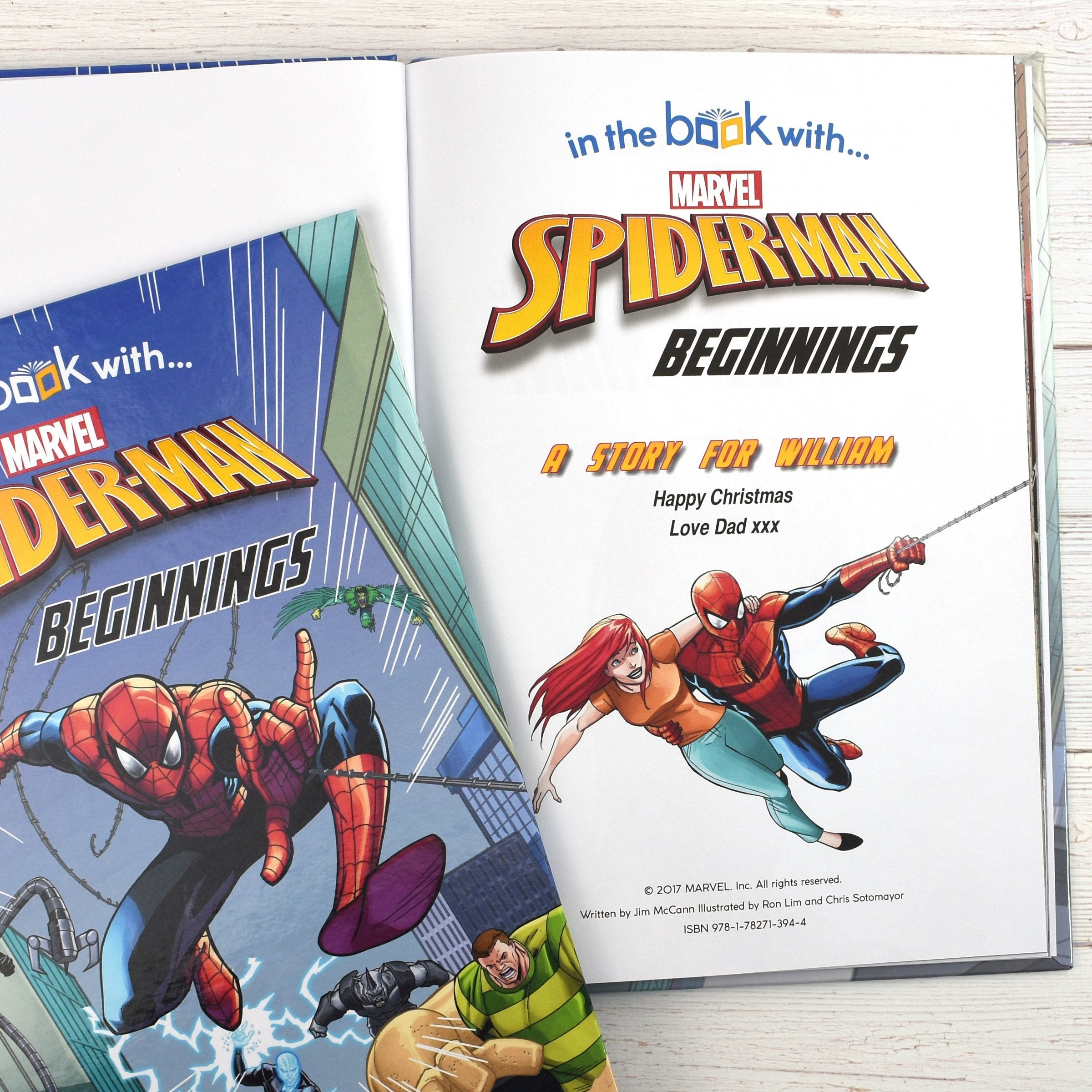 Spider-man Beginnings Personalised Marvel Story Book - Shop Personalised Gifts (2002263539798)
