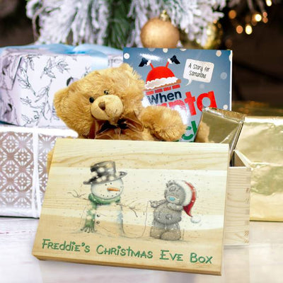 Personalised Me To You Tiny Tatty Teddy & Snowman Christmas Eve Box - Shop Personalised Gifts