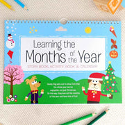 Personalised Months of the Year Activity Book - Personalised Books-Personalised Gifts-Baby Gifts-Kids Books