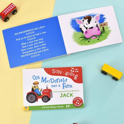 Personalised Old Macdonald Sound Board Book - Personalised Books-Personalised Gifts-Baby Gifts-Kids Books