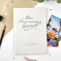 Our Anniversary Personalised Journal - Shop Personalised Gifts