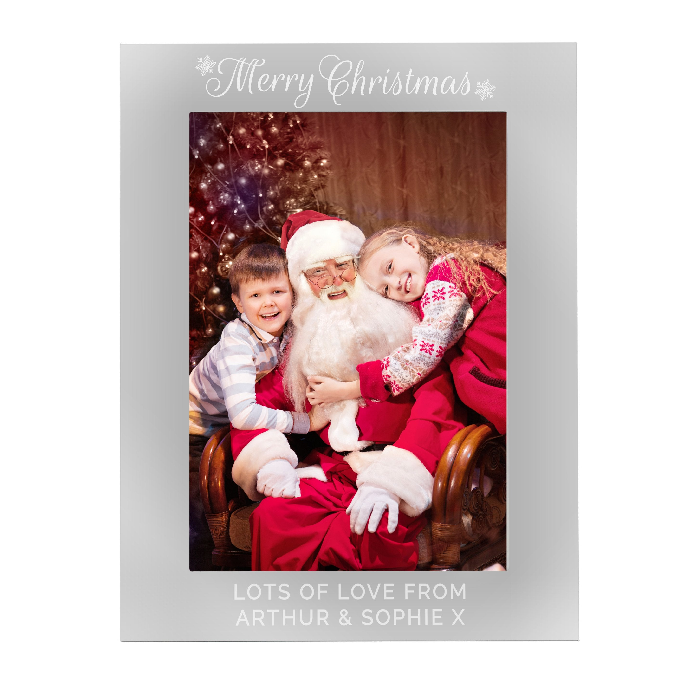 Personalised Silver 5x7 Merry Christmas Photo Frame - Shop Personalised Gifts