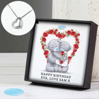 Personalised Me to You Valentine Sterling Silver Sentiment Heart Necklace and Box - Shop Personalised Gifts