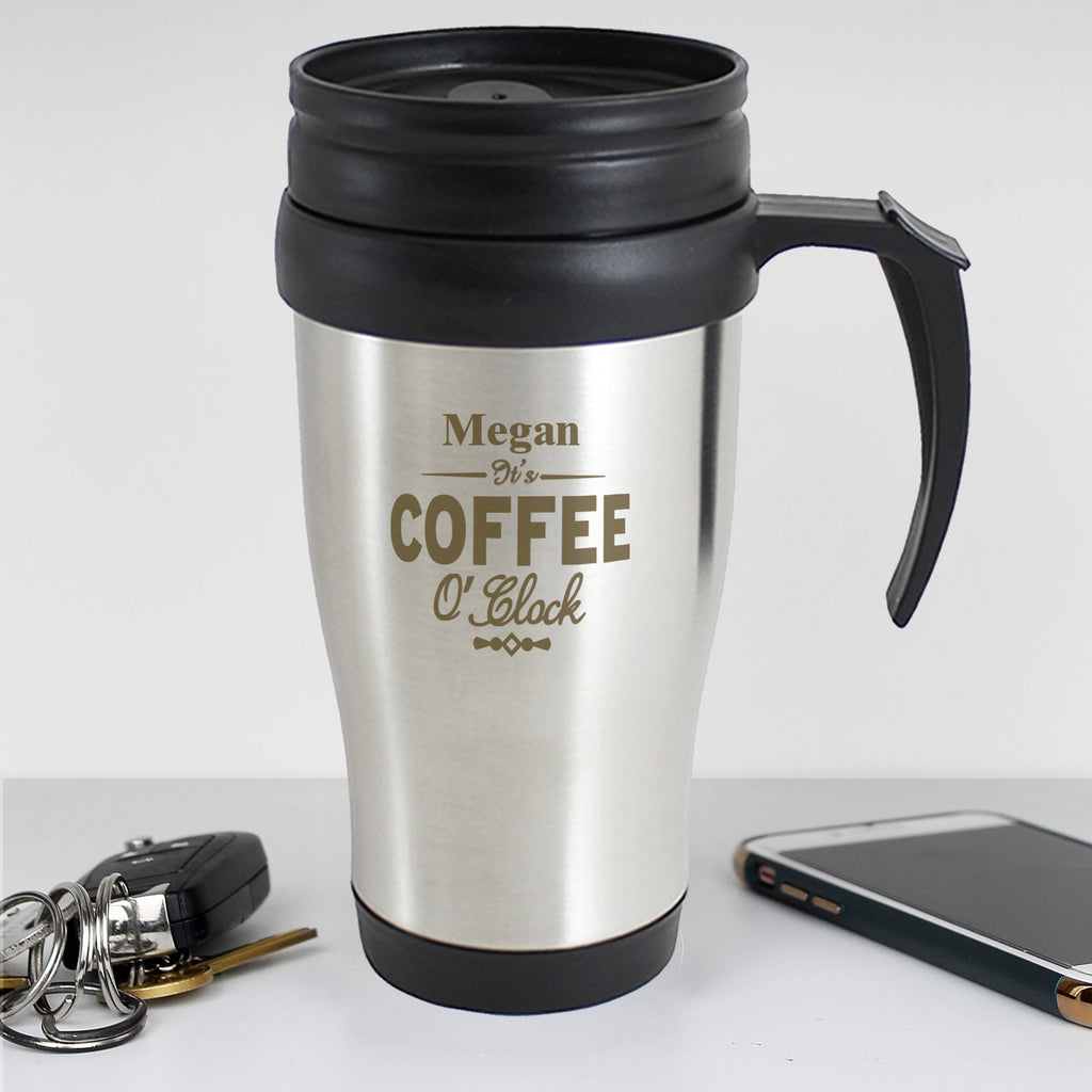 Personalised Coffee O'Clock Travel Mug - Shop Personalised Gifts