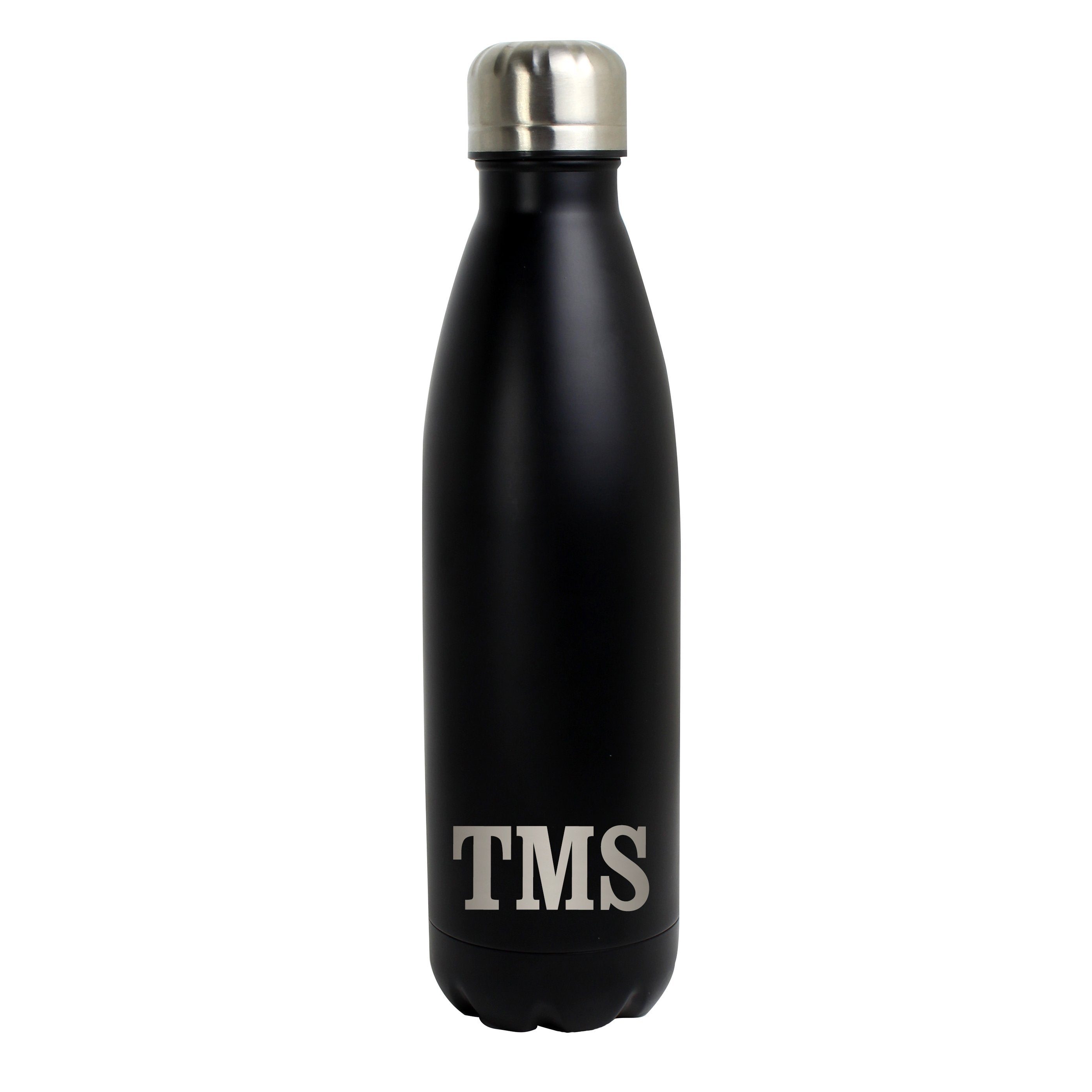 Personalised Initials Black Metal Insulated Drinks Bottle - Shop Personalised Gifts