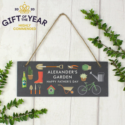 Personalised Garden Printed Hanging Slate Plaque - Shop Personalised Gifts