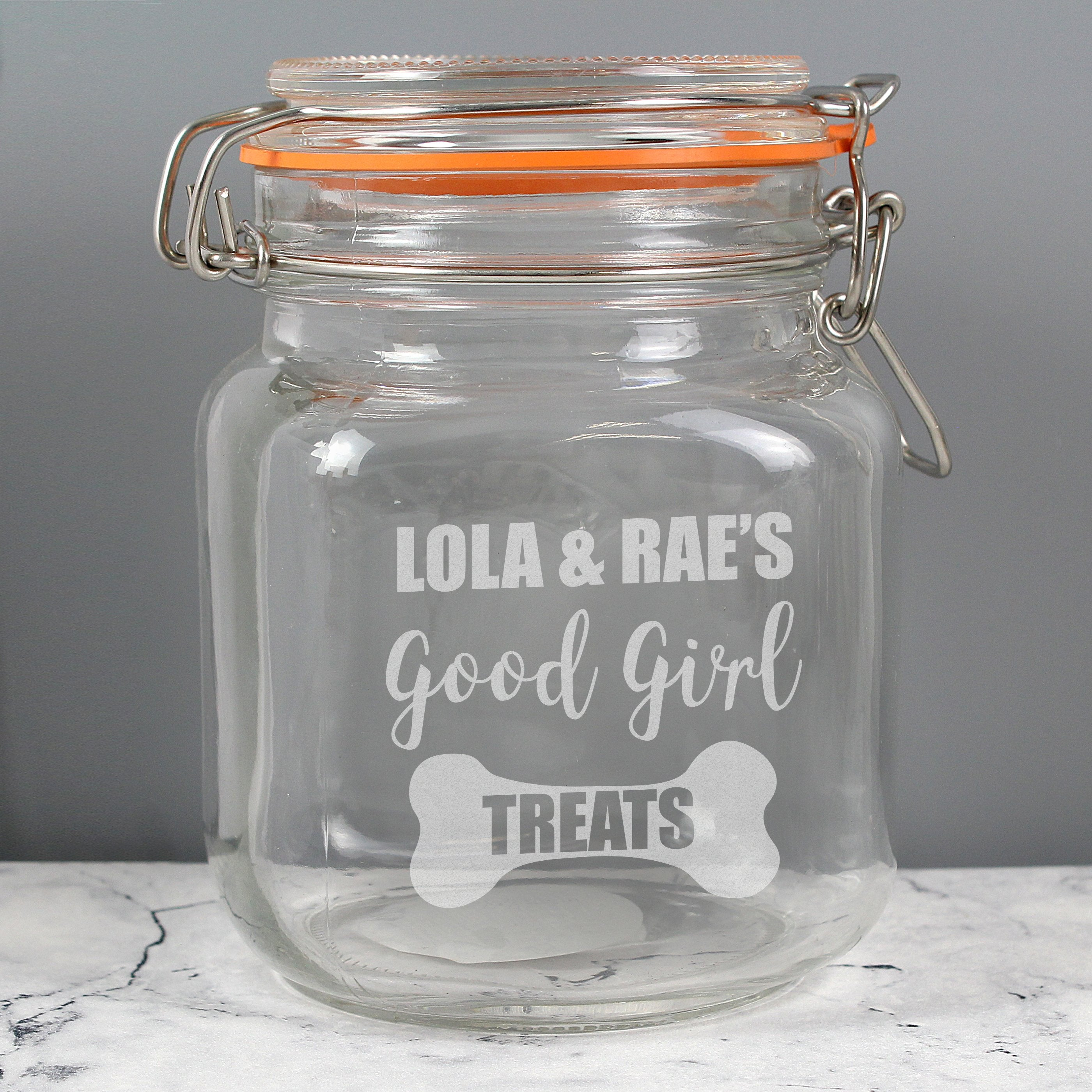 Personalised Good Girl Treats Glass Kilner Jar - Shop Personalised Gifts (4737578532950)