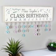 Personalised Classroom Office Birthday Planner Plaque with Customisable Discs - Personalised Books-Personalised Gifts-Baby Gifts-Kids Books