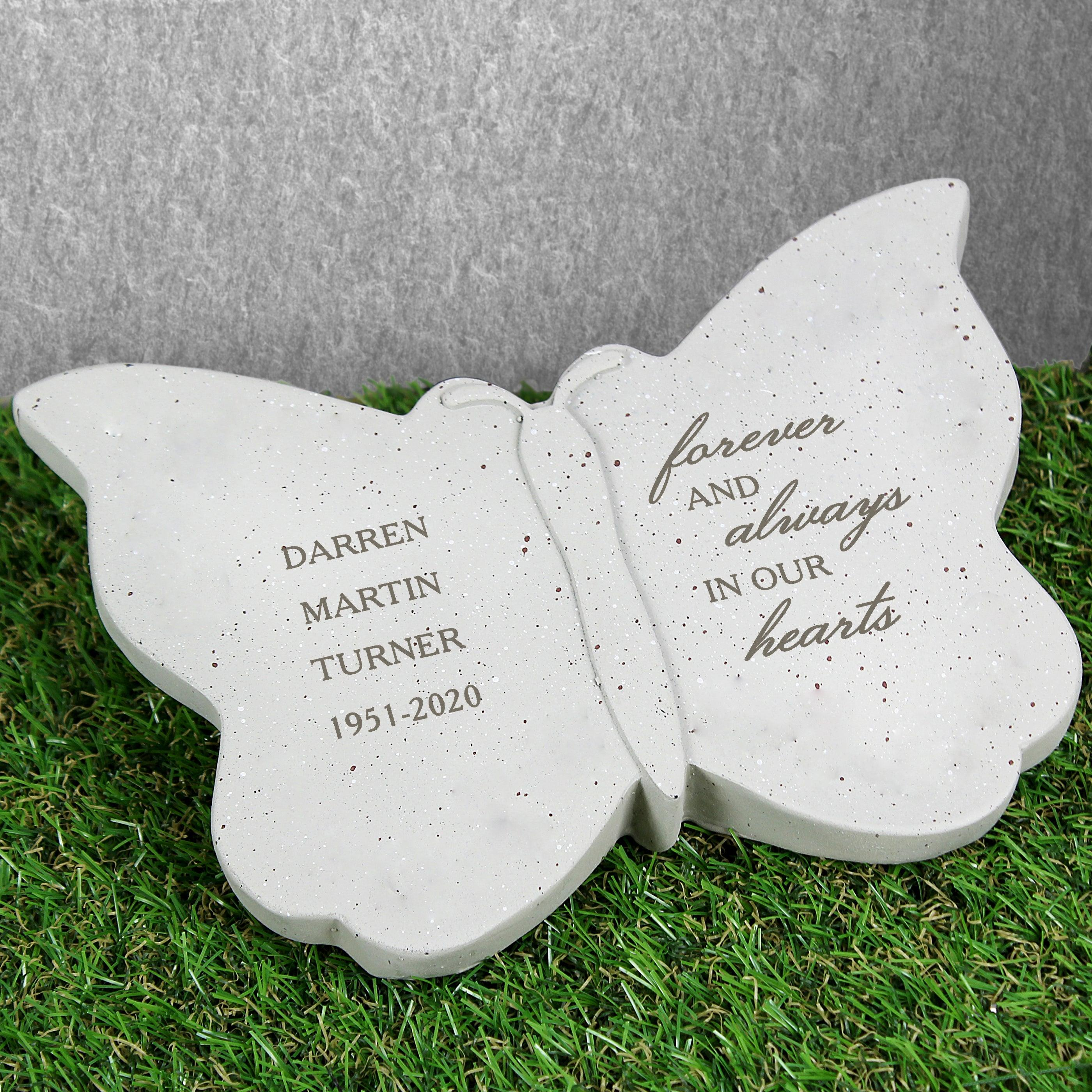 Personalised Forever and Always Resin Memorial Butterfly