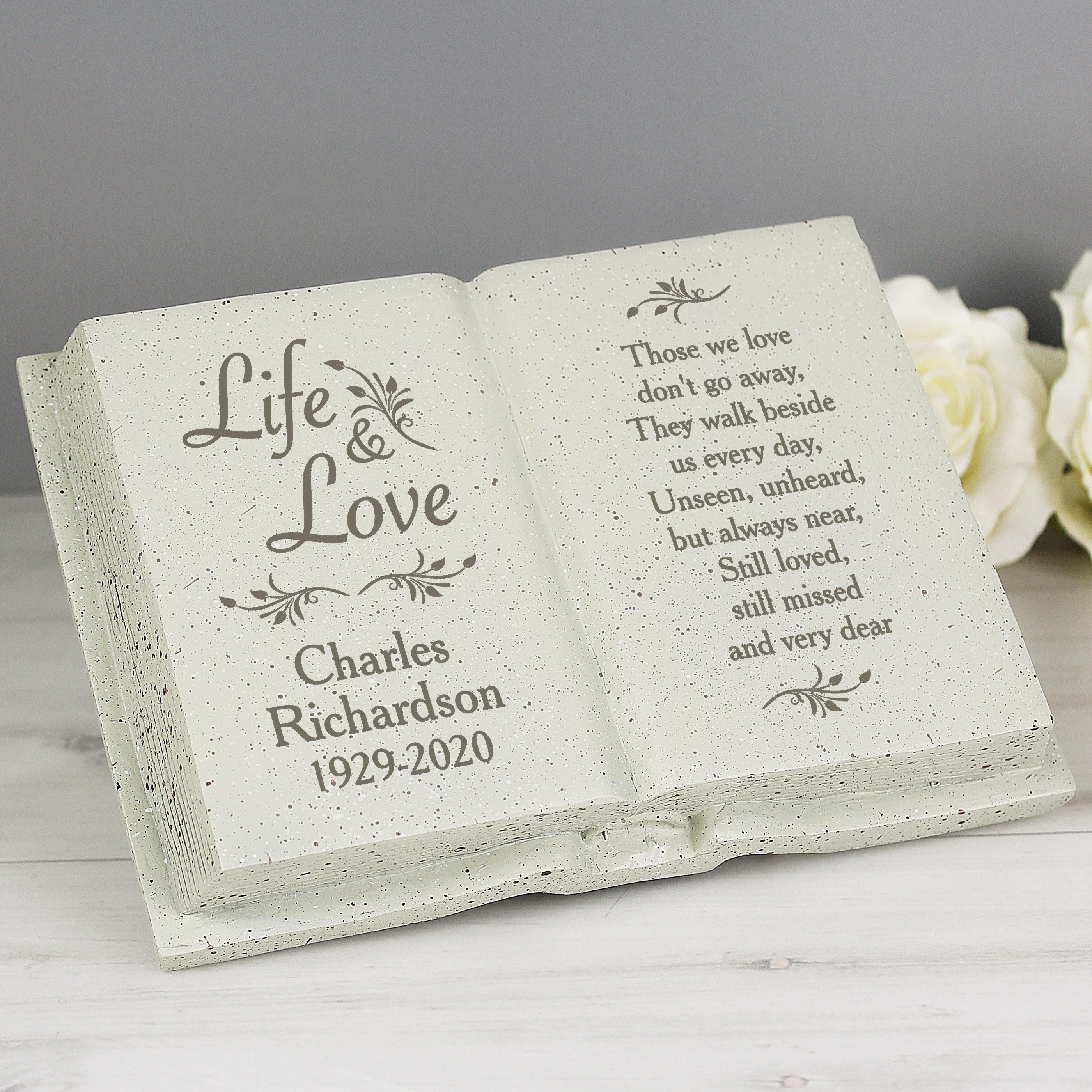 Personalised Life & Love Resin Memorial Book
