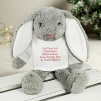 Personalised Christmas Bunny Soft Toy - Personalised Books-Personalised Gifts-Baby Gifts-Kids Books