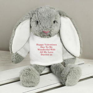 Personalised Christmas Bunny Soft Toy - Shop Personalised Gifts