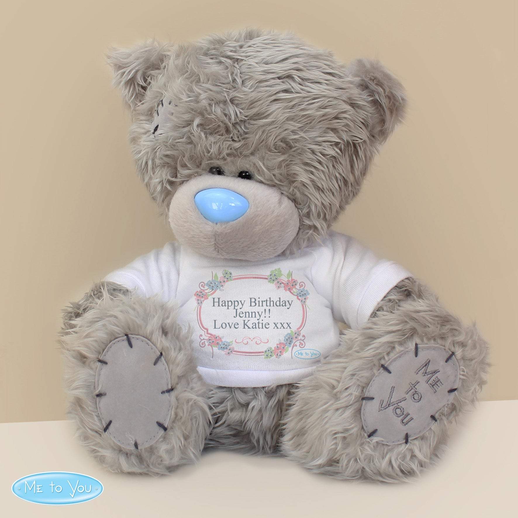 Personalised Me To You Teddy Bear with Floral T-Shirt