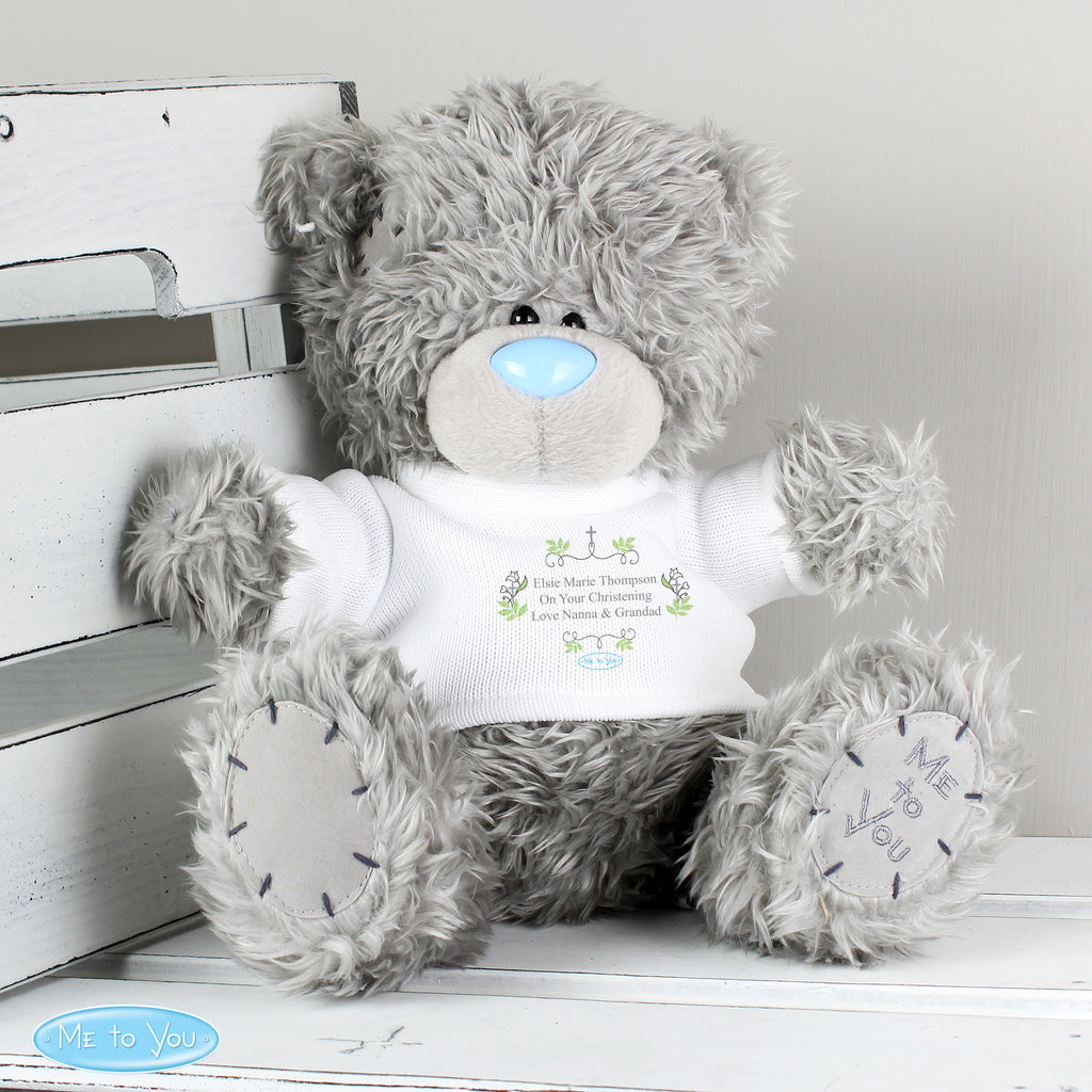 Personalised Me To You Religious Cross Teddy Bear with T-Shirt - Personalised Books-Personalised Gifts-Baby Gifts-Kids Books
