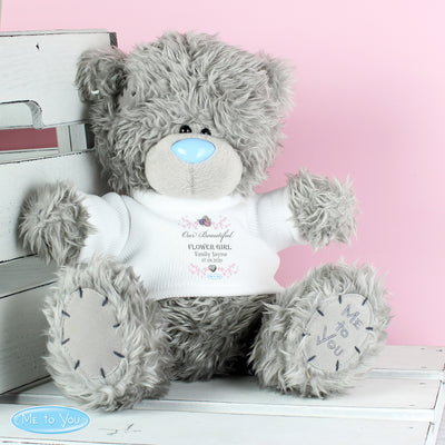 Personalised Me To You Girl's Teddy Bear with T-Shirt: for Bridesmaid and Flowergirl