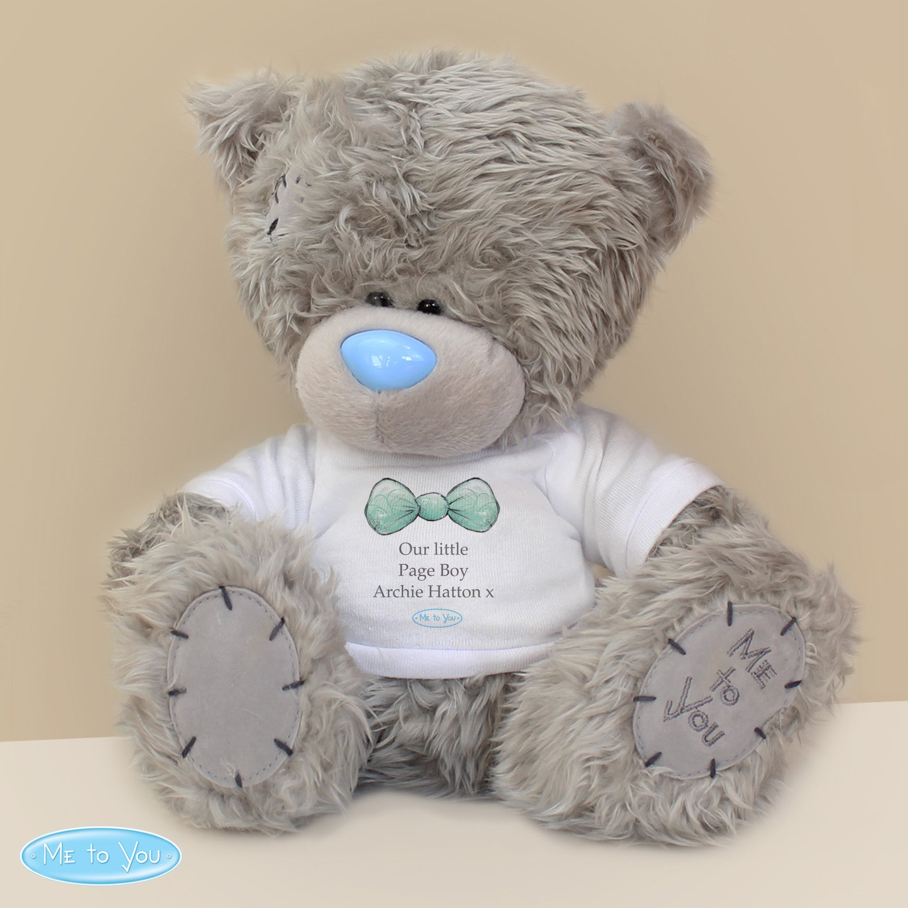 Personalised Me To You Boy's Teddy Bear with T-Shirt: for Pageboy and Usher (4296237482070)