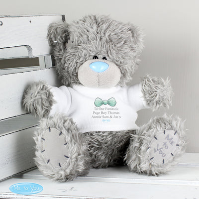 Personalised Me To You Boy's Teddy Bear with T-Shirt: for Pageboy and Usher - Shop Personalised Gifts