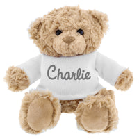 Personalised Grey Name Only Teddy Bear - Shop Personalised Gifts