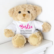 Personalised #Bestie Teddy Bear - Shop Personalised Gifts