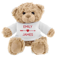 Personalised Couple In Love Teddy Bear in Red Jumper