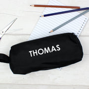 Personalised Black Pencil Case - Shop Personalised Gifts