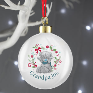 Personalised Me To You 'For Grandad, Dad' Christmas Bauble