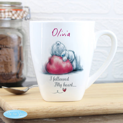 Personalised Me To You Heart Bone China Latte Mug - Shop Personalised Gifts