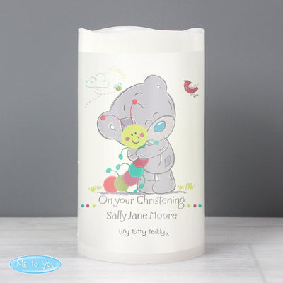 Personalised Tiny Tatty Teddy Cuddle Bug Nightlight LED Candle - Shop Personalised Gifts
