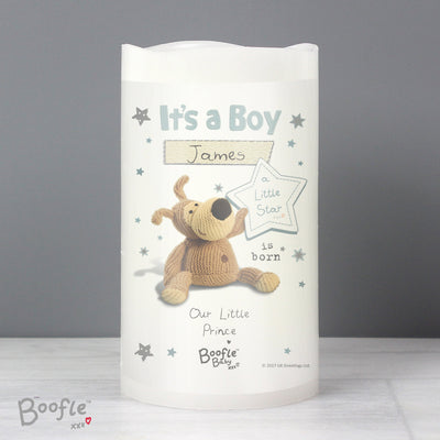 Personalised Boofle It's a Boy Nightlight LED Candle - Shop Personalised Gifts