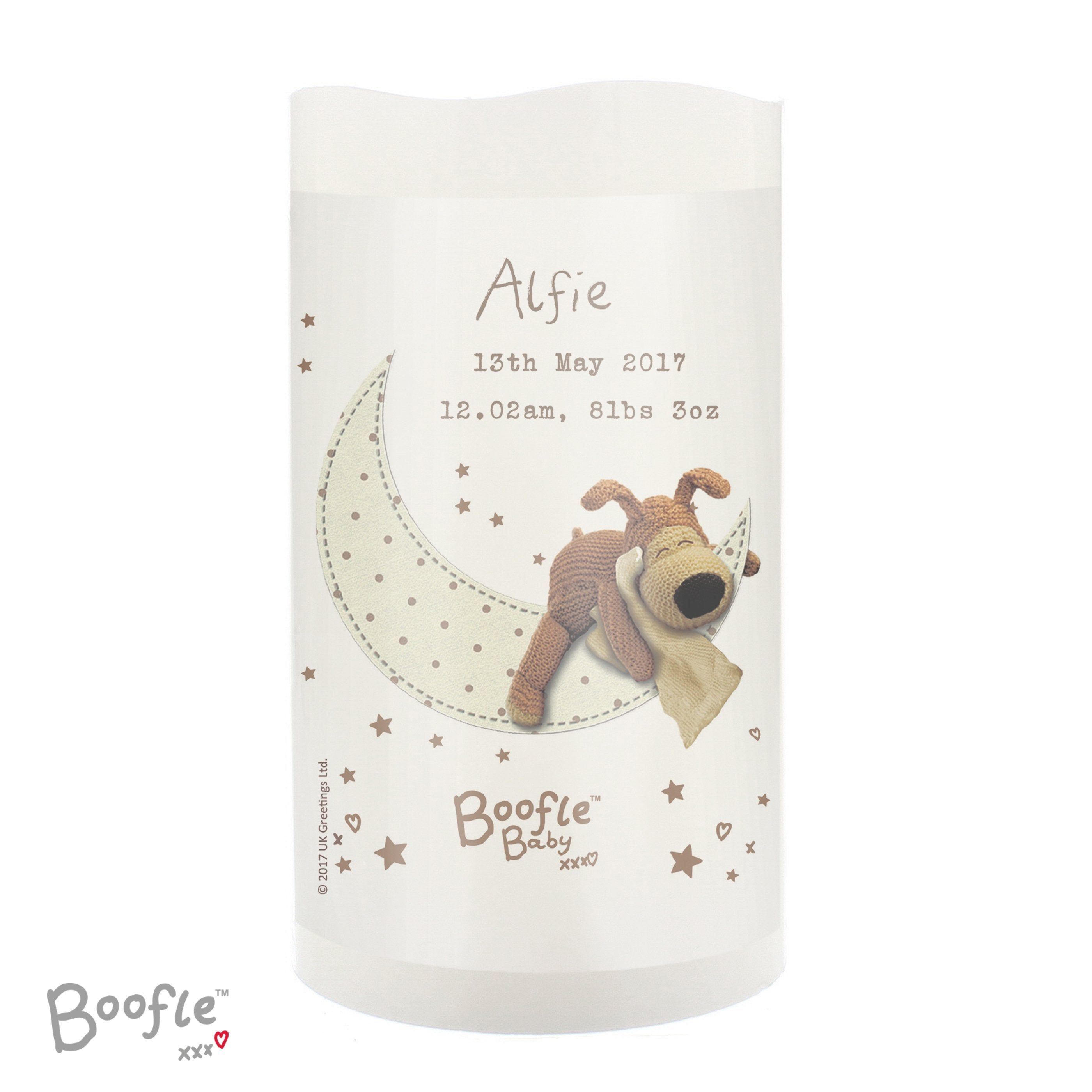 Personalised Boofle Baby Nightlight LED Candle - Shop Personalised Gifts