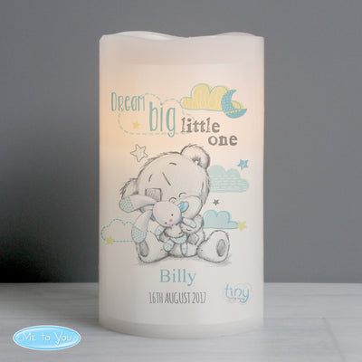 Personalised Tiny Tatty Teddy Dream Big Blue Nightlight LED Candle - Shop Personalised Gifts