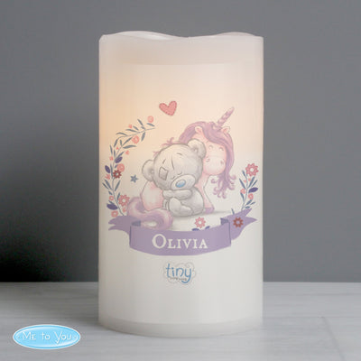 Personalised Tiny Tatty Teddy Unicorn Nightlight LED Candle - Shop Personalised Gifts