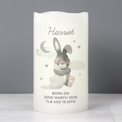 Personalised Baby Easter Bunny LED Candle - Shop Personalised Gifts