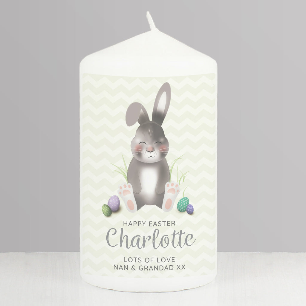 Personalised Easter Bunny Pillar Candle - Shop Personalised Gifts