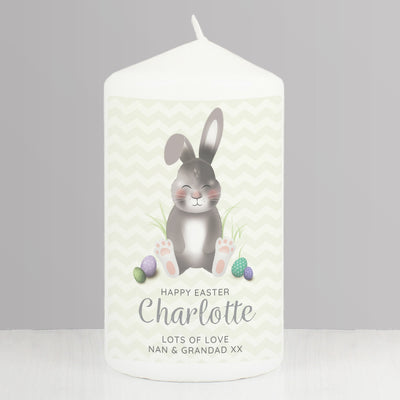Personalised Easter Bunny Pillar Candle - Personalised Books-Personalised Gifts-Baby Gifts-Kids Books