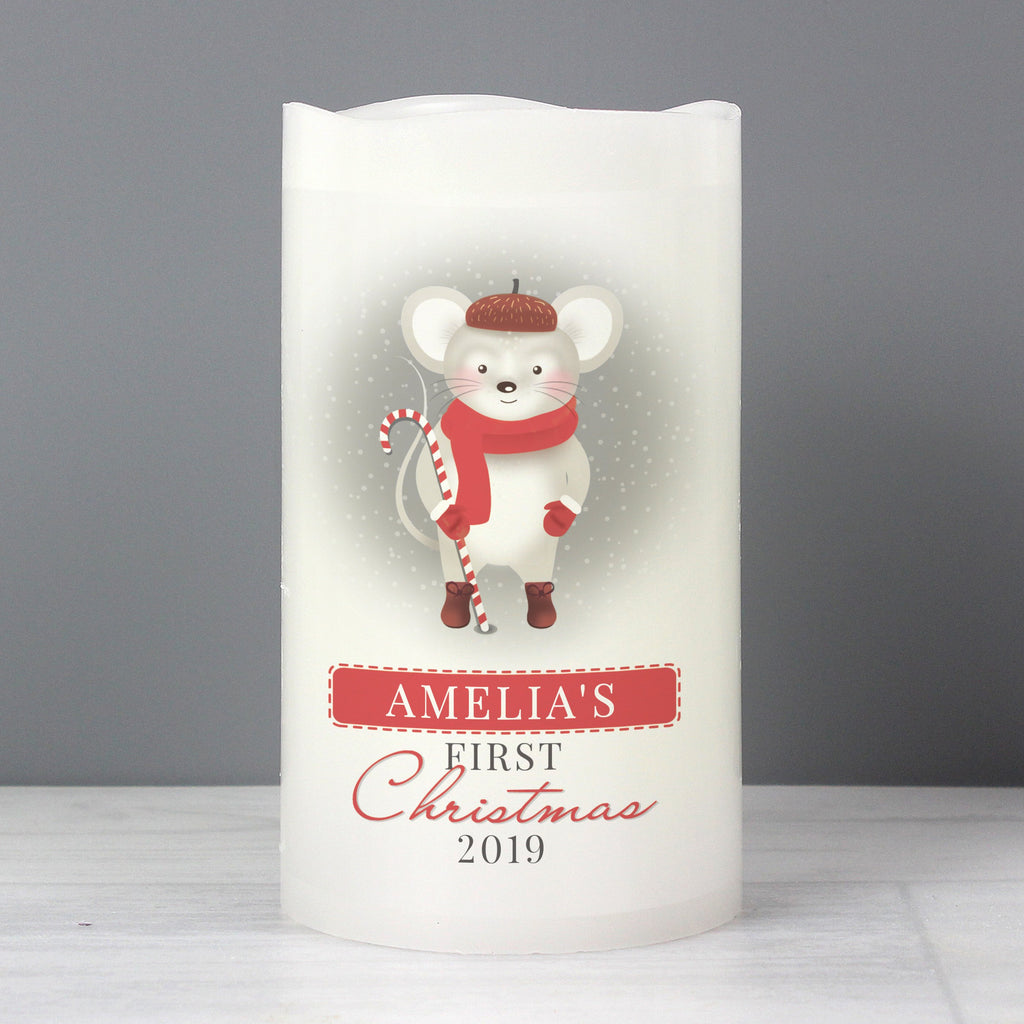 Personalised '1st Christmas' Mouse Nightlight LED Candle - Personalised Books-Personalised Gifts-Baby Gifts-Kids Books