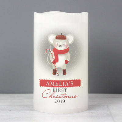 Personalised '1st Christmas' Mouse Nightlight LED Candle - Shop Personalised Gifts
