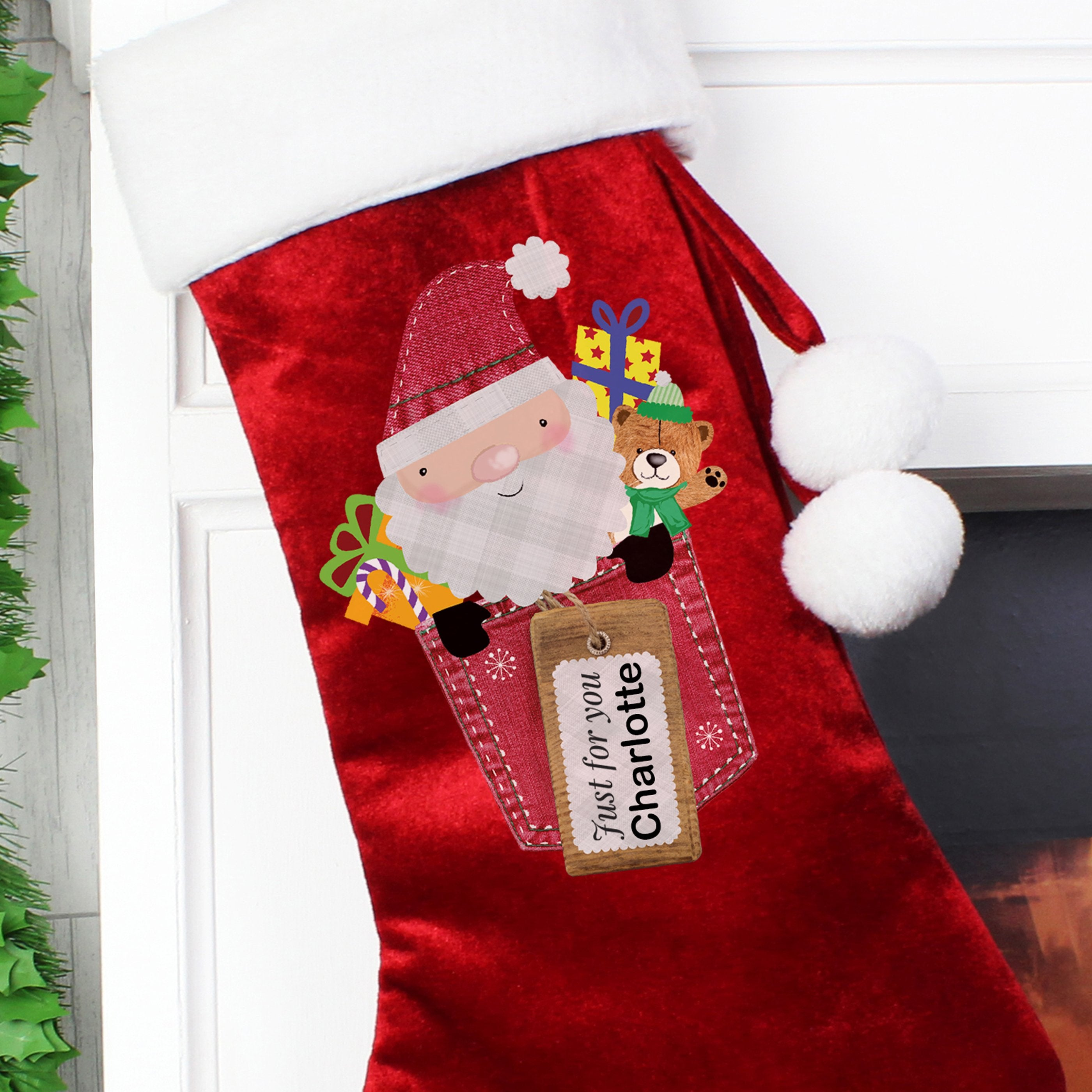 Personalised Santa Claus Luxury Stocking - Shop Personalised Gifts