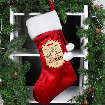 Personalised Special Delivery Luxury Stocking - Shop Personalised Gifts