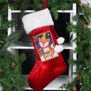 Personalised Festive Fox Luxury Stocking - Shop Personalised Gifts