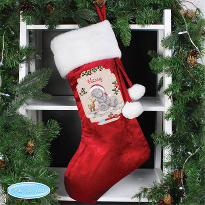 Personalised Me to You Reindeer Luxury Stocking for Christmas - Shop Personalised Gifts