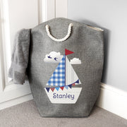 Personalised Sailboat Storage Bag - Personalised Books-Personalised Gifts-Baby Gifts-Kids Books