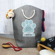 Personalised Blue Paw Print Storage Bag - Shop Personalised Gifts