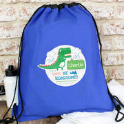 Personalised 'Be Roarsome' Dinosaur Swim & Kit Bag - Personalised Books-Personalised Gifts-Baby Gifts-Kids Books