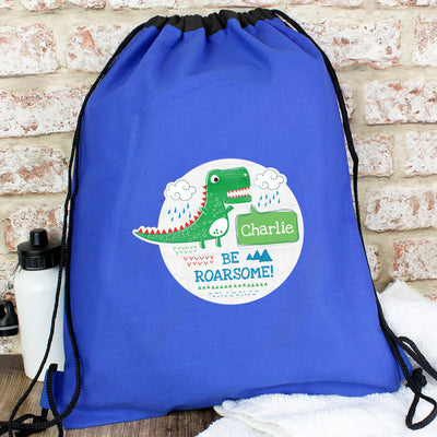 Personalised 'Be Roarsome' Dinosaur Swim & Kit Bag - Shop Personalised Gifts