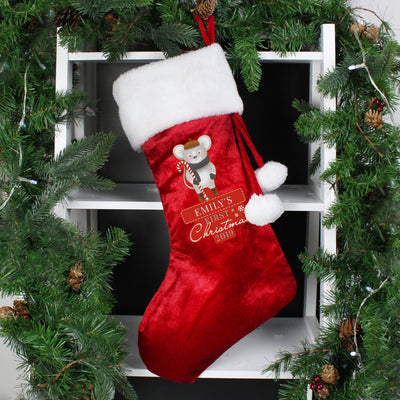 Personalised 1st Christmas' Mouse Stocking Stocking for Christmas - Shop Personalised Gifts