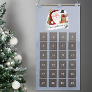 Personalised Felt Santa Advent Calendar In Silver Grey - Personalised Books-Personalised Gifts-Baby Gifts-Kids Books