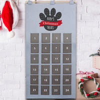 Personalised Felt Pet Advent Calendar In Silver Grey - Shop Personalised Gifts